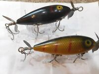 2 South Bend Surf Oreno Vintage Wooden Lures NICE condition