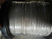 7x7 49 Strand Wire Stainless Steel Leader 480 lbs Fishing 250' plus 50 crimps