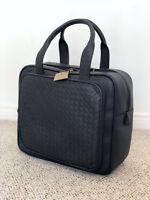 NWT! BOTTEGA VENETA Blue Leather Carry-on Weekend Bag Duffle Luggage Women Men