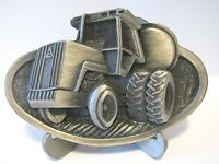 Allis Chalmers AC 8010 Tractor Pewter Belt Buckle 1982 Milwaukee Duals  3D