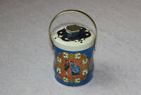 Vintage Murray Allen Tin Lid Handle Made in England Blue Gold Couple Dancing