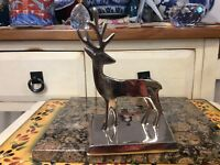 Christmas Stocking Holder by Distributed GB retailers  rain deer chrome silver