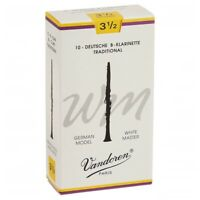 Vandoren White Master Bb Clarinet Reeds Strength 3 1/2 3.5 German Model 10 Reeds