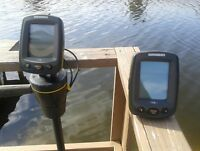 Hummingbird Fish Finder 170 & 110 TRANSDUCER POLE & MOUNT, Battery POWERED 100 %