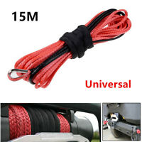 1/4'' x 50' Synthetic Winch Rope Cable Line for ATV UTV Off-road 5000-5700lbs