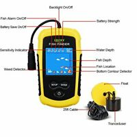 Lucky Portable Fishing Sonar, Handheld Wired Fish Finder Fishfinder Alarm Sensor