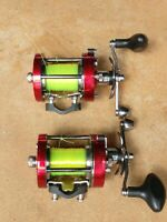Lot of Two Abu Garcia Ambassadeur 7000 C Round Baitcast Fishing Reels