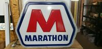Vintage Large MARATHON oil gas station sign light up antique vintage working a++