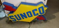 Vintage amazing sunoco oil gas station sign light up antique vintage working a++