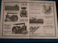 Aultman Taylor Co. Mansfield, OH 1910 Advertisement: No. 4 Gas Traction Engine +