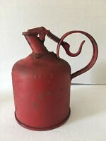 Vintage Metal PROTECTION 1 GALLON SAFETY GAS CAN OIL FUEL UNDERWRITERS
