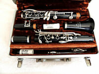 Buescher Aristocrat Clarinet Ser. 720473 Made In USA Brilhart Special Ebolin MP