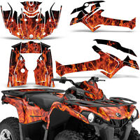 Graphic Kit Can-Am Outlander L MAX 570/450 ATV QUAD Decal Wrap 2014-2016 ICE ORG