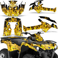 Graphic Kit Can-Am Outlander L MAX 570/450 ATV QUAD Decal Wrap 2014-2016 ICE YLW