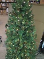 GE 9' LED PRE-LIT NORDIC PINE CHRISTMAS TREE WHITE CLEAR LIGHTS 14892HD MSRP$550