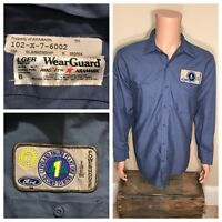 Vintage FORD MOTOR COMPANY Uniform Shirt Cleveland engine Plant patches UAW rare