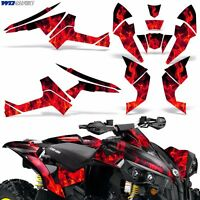 Graphic Kit CanAm Renegade X/R ATV Quad Decals Wrap Can Am 500/800/1000 ICE RED