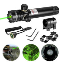 18650 Rifle Remote Switch 2 Mounts Tactical 532nm Green Laser Dot Scope Sight