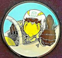 WESTINGHOUSE Advertising button. Thumbs up Jet Pilot cartoon character pinback