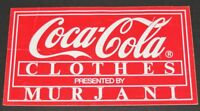 Vintage 1980s Coca-Cola Clothes Designed by Tommy Hilfiger/Murjani Sign/Sticker