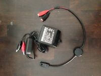 humminbird battery charger and humminbird power cable cord - new