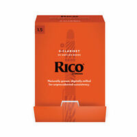 Rico by D'Addario Bb Clarinet Reeds, Strength 1.5, 50-pack