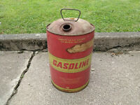 vintage 6.5 gallon metal gas can Huffy gasoline