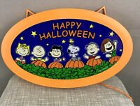 Decorative Outfit Peanuts Lighted Halloween Sign Pumpkin Patch Indoor Outdoor