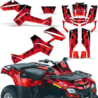 Graphic Kit Outlander ATV Quad Decals Wrap Can-Am 500/650/800/1000 06-11 ICE RED