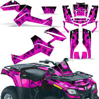 Graphic Kit Outlander ATV Quad Decals Wrap Can-Am 500/650/800/1000 06-11 ICE PNK