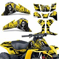 LT80 Graphic Kit Suzuki ATV Decals Sticker Wrap LT 80 Quadsport 87-06 REAP YELLW