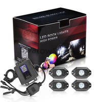 4Pods Cree LED RGB Rock Lights For Golf Cart ATV UTE Wireless Bluetooth Music