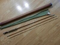 Vintage Sport King Model 64-9' Bamboo 3 pc. Fly Pole 9 foot