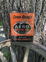 AERO EASTERN MOTOR OIL VINTAGE OIL CAN GAS STATION SERVICE STATION MEMORABILIA