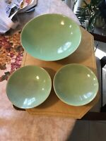 3 Vintage  Cowan Pottery Art Deco Compote Dishes 10 inches And 6 inches