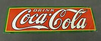 VINTAGE AUTHENTIC COCA COLA EMBOSSED TIN SIGN, BRIGHT COLOR, NICE, REAL!!