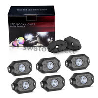 6xRGB LED Rock Lights Wireless Bluetooth Music Offroad SUV Truck Boat ATV Strobe