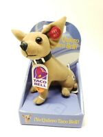 1998 Yo Quiero Taco Bell Stuffed Talking Chihuahua Dog 4 Phrases Fun 4 All Plush