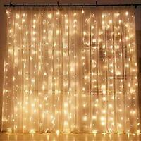 Twinkle Star 300 LED Window Curtain String Light Wedding Party Wall Decorations