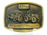 Agco Allis 10-18 & 9650 Tractor Brass Belt Buckle Spec Cast Limited Ed 80th 1994