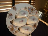 HAVILAND LIMOGES SMALL OYSTER PLATE 7 1/8