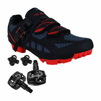 Zol Predator Plus MTB Mountain Bike & Indoor Cycling Shoes Pedals & Cleats