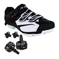 Zol Trail Plus MTB and Indoor Cycling Shoes Pedals & Cleats Bundle