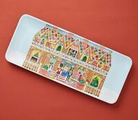 Anthropologie August Wren KRIS KRINGLE MELAMINE Christmas PLATTER NEW
