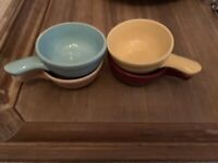 Vintage Heinz Promotional Pottery Soup Bowls By McCoy Set Of Four