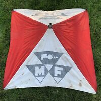 Original Vintage Massey Ferguson Tractor Canvas Sun Shade Canopy MF Advertising