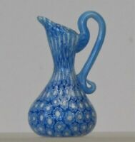 Miniature millefiori Toso Pitcher with handle. Vittorio Ferro