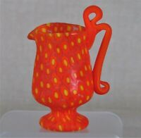 Miniature millefiori Toso handled footed Pitcher. Vittorio Ferro