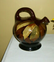 WELLER POTTERY DICKENS WARE BALL JUG PITCHER #333 ARTIST SIGNED RICH COLOR