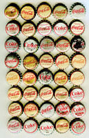 40-LOT of CORK LINING COCA COLA SODA BOTTLE CAPS - Many are Different